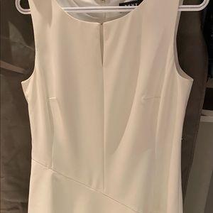 DKNY cream flowy dress